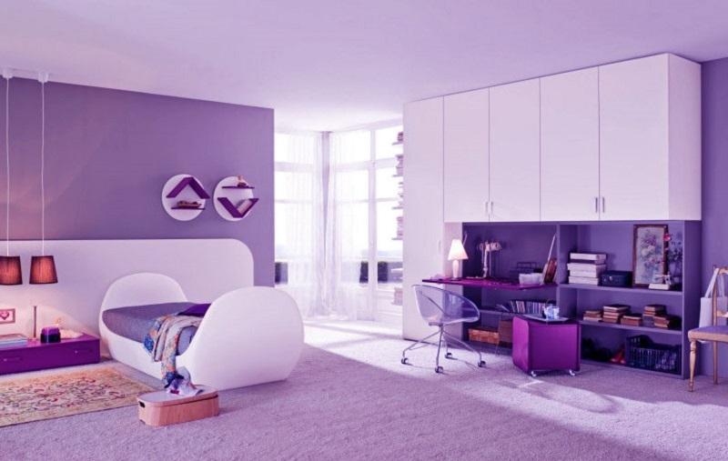 Лилавият цвят в дома-идеи за декорация