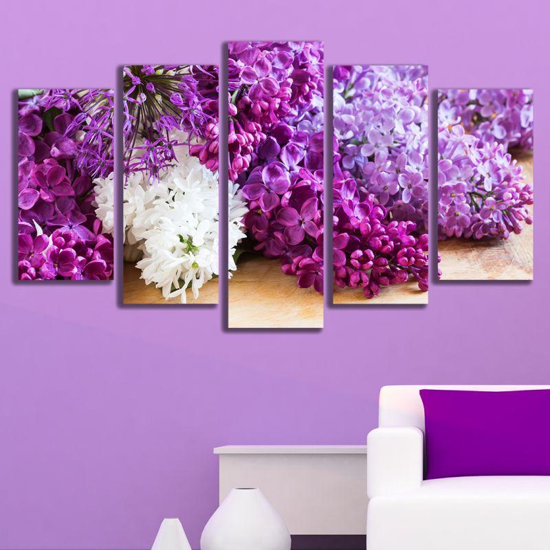 Лилавият цвят в интериора
