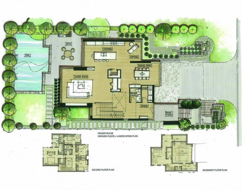 Къща-с-модерна-архитектура-в-Канада-от-Christopher-Simmonds-Architect-План