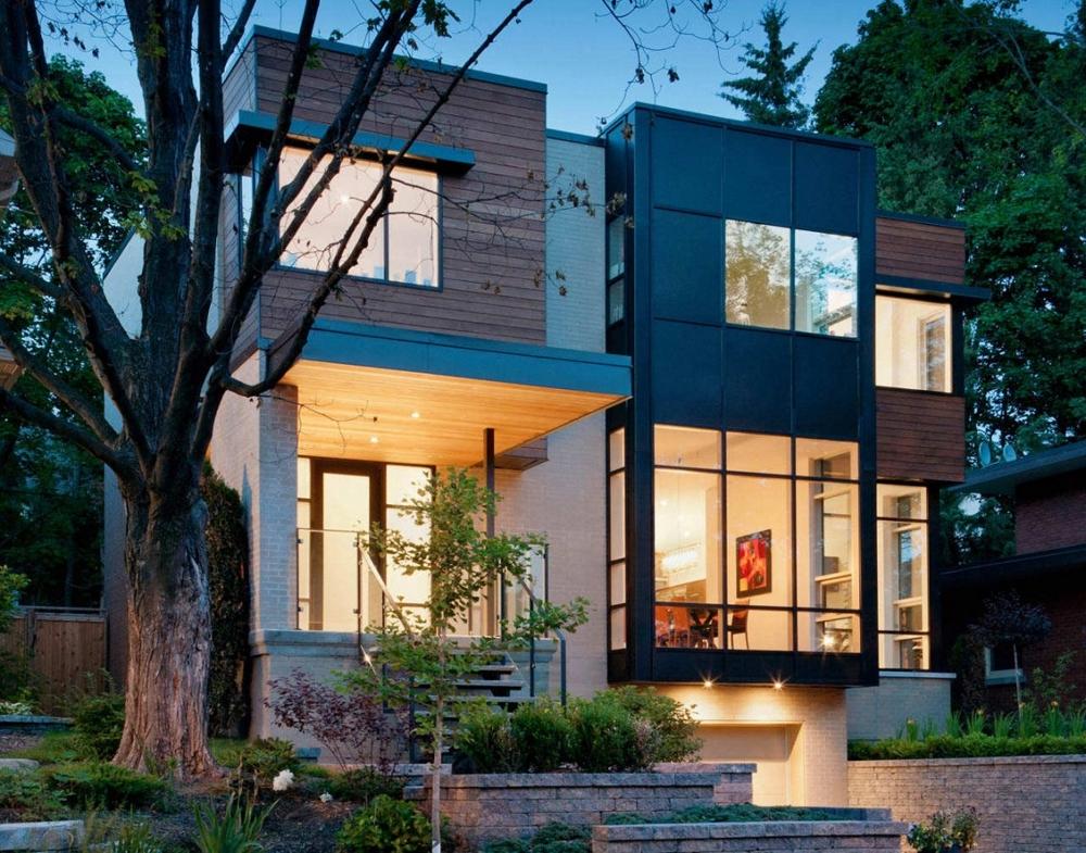 Къща-с-модерна-архитектура-и-минималистичен-интериор-в-Канада