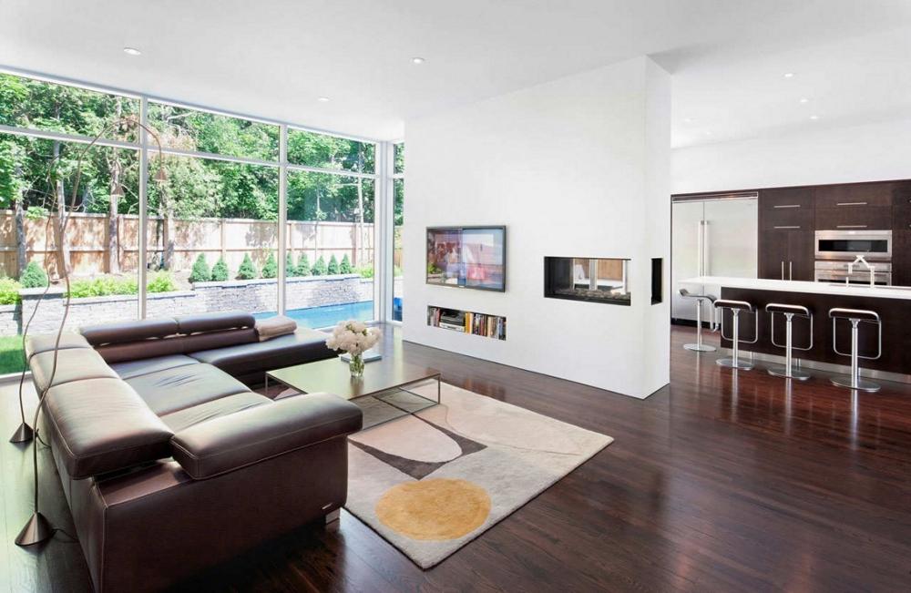 Къща-с-модерна-архитектура-и-минималистичен-интериор-дървени-подове