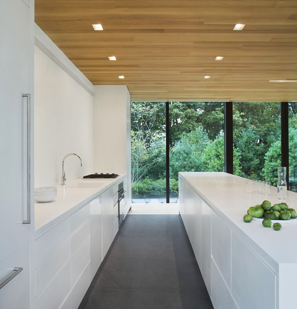 Модерен-дом-сред-гората-кухня-в-бяло
