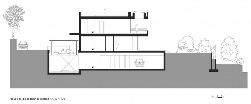 House-M-от-monovolume-architecture-+-design-надлъжен-разрез-секция-АА